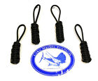 Lobo Marine Products 4 Pack Boat  Yacht Enclosure Awning Soft Top Zipper Pulls