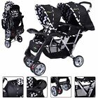 Twin Baby Double Stroller Foldable Kids Jogger Travel Infant Pushchair Black