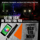 60 5FT RGB 5050 LED Light Whip Bluetooth Control Quick Release Offroad 1Pc B