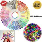100 Gel Color Pen Set Glitter Art Deluxe Coloring More Colored Ink Non Toxic
