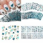 24 Sheets Adhesive Nail Art Stickers Decals 3D Butterfly Flower Manicure