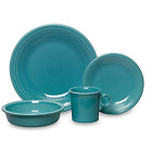 Fiesta Ware HLC Turquoise 16-pc. Dinnerware Set Service for 4 USA NEW!!!!