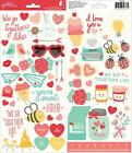 Pebbles We Go Together Icon  Phrases Stickers 60pc Love Heart American Crafts