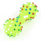 Uxcell Vinyl Rubber Pet Bone Design Squeaky Chew Toy Green Yellow
