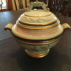 Fitz And Floyd Christmas Clairmont Holiday Soup Tureen & Ladler hous