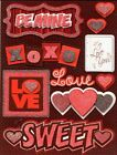 3D Scrapbook Card Making Stickers Be Mine BM 101 Valentines Reminisce Love