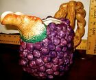 Fitz And Floyd Classics Autumn Bounty Grapes Fall Pitcher 1988