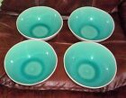 Nicole Miller Home  Blue  Turquoise Crackle bowls Set Of 4. Stoneware New.
