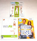 Wii Fit  Fit Plus  Biggest Loser Exercise Fitness Set Lot 3 Bundle Video Game