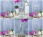 PERSONALISED Glass WEDDING ANNIVERSARY FLOWER VASE for Her ROMANTIC Gift Ideas