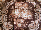 Antique 19thc Madder Brown Roses Scroll Cotton Fabric ~ quilts collections