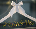 Personalized Wedding Hanger Bridal Dress Hanger with Colorful Wire Bride Name
