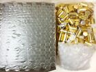 10ml SWIRL 1 3 oz Clear Glass Roll on Bottles With Aluminum Gold Cap  Roller