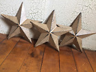 (Set of 3) RUSTIC BLACK BARN STAR 5.5