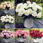 12Head Artificial Fake Rose Silk Flower Wedding Party Bridal Bouquet Home Decor