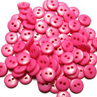 200pcscandy Colors Round Resin Buttons Craft Scrapbook Sewing 15 Mm 2 Holes