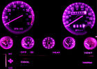 Jeep YJ Wrangler Purple LED Speedometer Gauge Cluster & Dash & Interior LED Kit