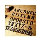 House Door Alphabet Letters  Numbers Cast Wrought Iron Black Antique