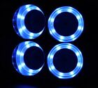 4Pcs Stainless Steel Cup Drink Holder Blue LED Built in For Marine Boat Truck RV