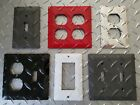 Diamond Plate Outlet Covers  Switch Plates