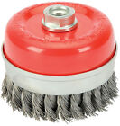 DRAPER 41447 60MM x M14 TWIST KNOT WIRE CUP BRUSH FOR ANGLE GRINDER