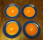 Dansk Caribe Bahama Blue Dinner Plates NEW - Retired