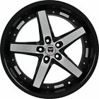 4 GWG WHEELS 20 inch Black Machined DRIFT Rims fits NISSAN ALTIMA COUPE 35 2016