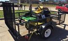 John Deere Z525E 22HP 54 Zero Turn And A NEW 6x10 TRAILER NEVER USED TO CUT