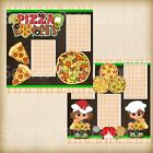 Premade Scrapbooking 2 Page Layouts PIZZA LOVERS food pizza slicer tomato garlic