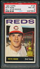 PETE ROSE 1964 TOPPS SECOND YEAR CARD #125 PSA 8