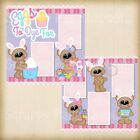 Premade Scrapbooking 2 Page Layouts EGGS TO DYE FOR bear bunny kit eggs color
