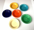 LOT OF 6 VINTAGE FIESTA WARE FIESTAWARE SOUP BOWLS PLATES RED COBALT BLUE GREEN