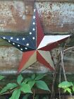 PRIMITIVE METAL BARN STAR AMERICANA 24 INCH 24