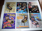 Lot Of (6) ORIGINAL NOS PINBALL MACHINE Flyers SPIDERMAN LOTR PARTY ZONE set #10
