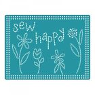Sizzix Textured Impressions Embossing Folder Sew Happy 660770