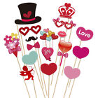 PBPBOX 40pcs Photo Booth Props Love Heart DIY Creative Kit for Wedding Party