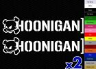 x2 Skull Hoonigan Vinyl Decal Sticker Car Drift JDM Dub Ken Block Drift iPad