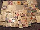 Lot 70+ Wood Mounted Rubber Stamps Stampin Up Hero Arts DOTS Some Unused