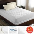 Bed Top Dust Mite Allergy Relief Waterproof Quilted Mattress Cover Pad Protector