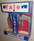 YALE LOCK VINTAGE SCREEN STORM DOOR LATCH HANDLE KNOB MID-CENTURY NEW NOS SILVER