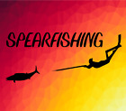 8 Spearfishing Sticker Vinyl Freediving Speargun Weight Belt Snorkel Mask New
