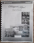 Husqvarna Viking Designer Topaz 20 30 Owners Users Guide Instruction Manual Book
