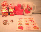 Strawberry Shortcake Mug Cookie Cutter Pins Ring Stickers