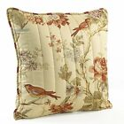 Waverly Charleston Chirp 20-Inch by 20-Inch Square Quilted Decorative Pillow