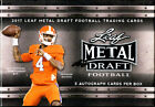 2017 Leaf Metal Draft Football Sealed HOBBY BOX (5 Autos per box!)