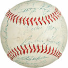 1958 San Francisco Giants Team Signed Autographed Baseball - Mays