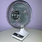VINTAGE GALAXY FAN 12-INCH OSCILLATING MODEL TH 1980s EXCELLENT CONDITION