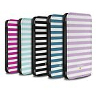 Personalised Custom Stripes/Striped Case for Apple iPhone SE/Initial Wallet