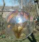 About 8 Amber Tree of Life Witches Ball Hand Blown Glass Sun Center T10