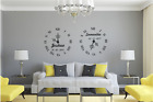 Clock with time date of birth and name vinyl wall art transfer decal sticker